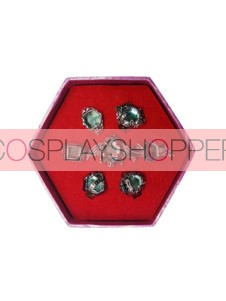 Cyan Katekyo Hitman Reborn Cosplay Ring Set