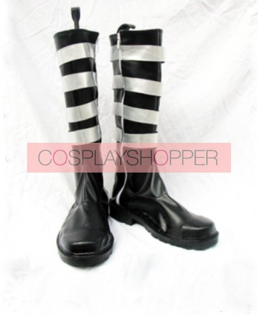 D.Gray-man Yu Kanda Imitation Leather Cosplay Boots