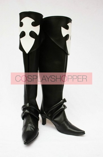 D.Gray Man Faux Leather Lenalee Cosplay Boots