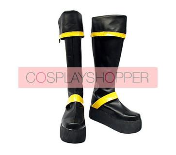 D.Gray Man Kanda Yu Imitation Leather Cosplay Boots