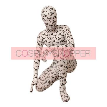 Dalmatian Pattern Lycra Spandex Unisex Zentai Suit