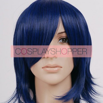 Dark Blue Simon Cosplay Wig