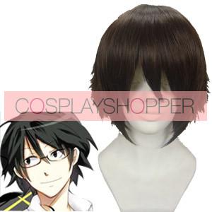 Dark Brown 30cm DuRaRaRa Shinra Kishitani Cosplay Wig