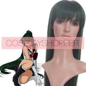 Dark Green 100cm Sailor Moon Sailor Pluto Meiou Setsuna Cosplay Wig