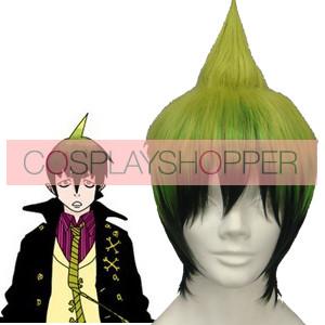 Dark Green 32cm Ao No Exorcist Amaimon Cosplay Wig