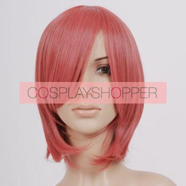 Dark Pink Pontail Raiko Shimizu Cosplay Wig