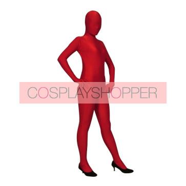 Dark Red Lycra Spandex Unisex Zentai Suit