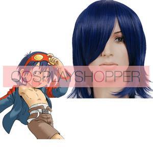 Deep Blue 35cm Gurren Lagann Simon Nylon Cosplay Wig