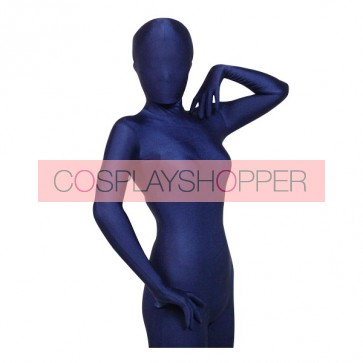 Deep Blue Lycra Spandex Unisex Zentai Suit