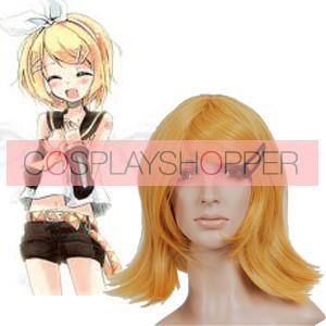 Deep Gold 40cm Vocaloid Kagamine Rin Nylon Cosplay Wig
