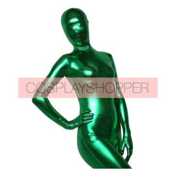 Deep Green Shiny Metallic Unisex Zentai Suit