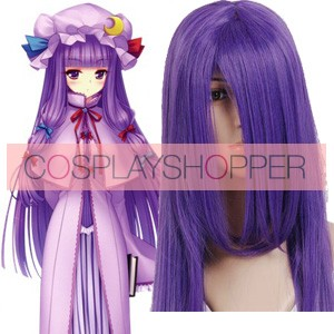 Deep Purple 100cm Tonhou Project Patchouli Knowledge Cosplay Wig