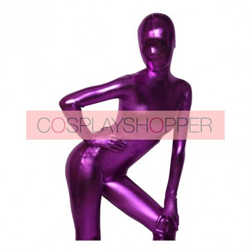 Deep Purple Shiny Metallic Unisex Zentai Suit