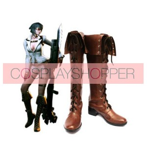 Devil May Cry 4 Lady Coffee Faux Leather Cosplay Boots