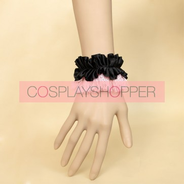 Elegant Black And Pink Office Lady Lolita Wrist Strap