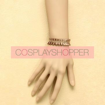 Elegant Champagne Office Lady Lolita Wrist Strap