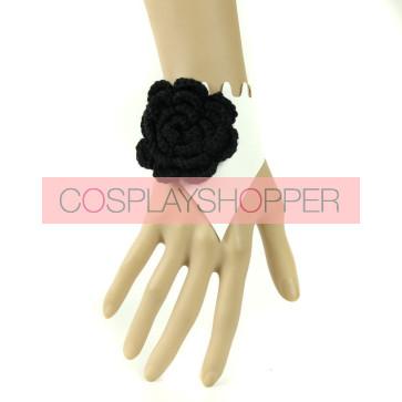 Elegant Floral Leather Lady Lolita Wrist Strap