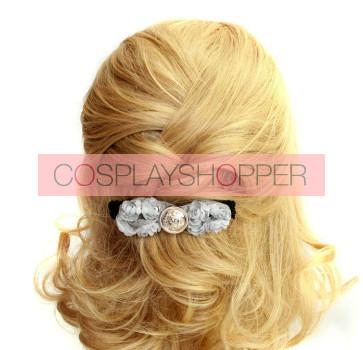 Elegant Grey Floral Women Lolita Hairpin