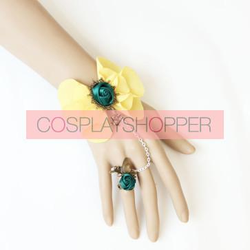 Elegant Rose Floral Lolita Bracelet And Ring Set