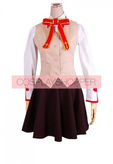 Fate Stay Night Homurabara Gakuen Girl's Uniform Cosplay Costume