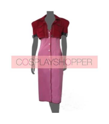 Final Fantasy VII 7 Aerith Cosplay Costume