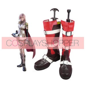 Final Fantasy Lightning Imitation Leather Cosplay Boots