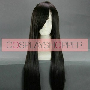 Black 90cm Final Fantasy Type-0 Queen Cosplay Wig