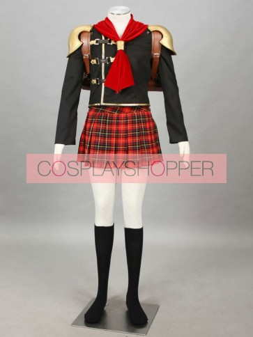 Final Fantasy Type-0 Suzaku Peristylium Class Zero Cater Cosplay Costume
