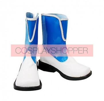 Final Fantasy X-2 Rikku Blue Faux Leather Cosplay Boots