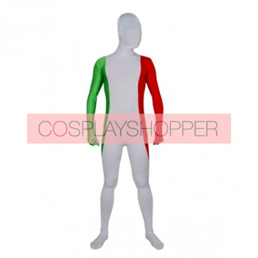 Flag of Italy Full Body Lycra Spandex Zentai Suit