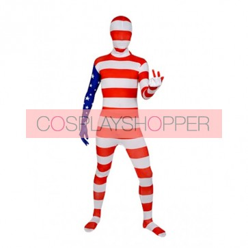 Flag of the United States Full Body Lycra Spandex Zentai Suit