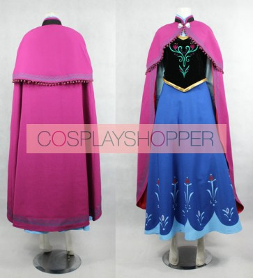 Frozen Princess Anna Cosplay Costume - Standard Edition