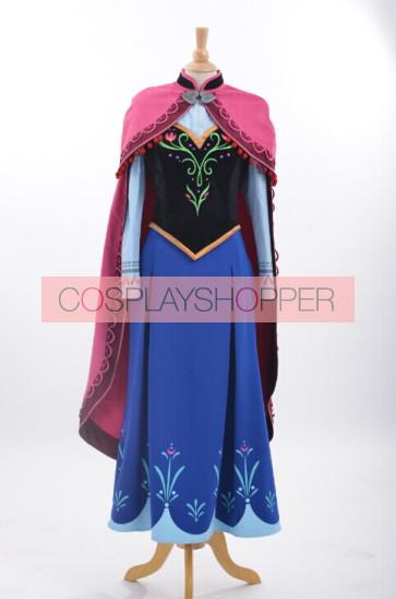 Deluxe Frozen Princess Anna Cosplay Costume
