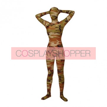 Full Body Lycra Spandex Camouflage Unisex Zentai Suit