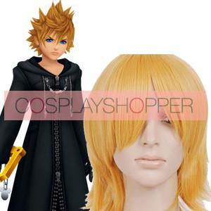 Gold 32cm Kingdom Hearts Roxas Cosplay Wig