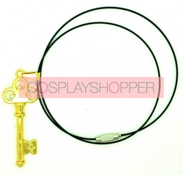 Gold Attack On Titan Eren Cosplay Key Necklace