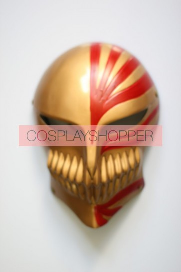 Gold Bleach Kurosaki Ichigo PVC Cosplay Mask