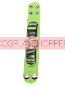 Gold Katekyo Hitman Reborn Green Cowhide Cosplay Hand Strap