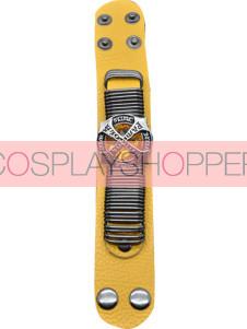 Gold Katekyo Hitman Reborn Yellow Cowhide Cosplay Hand Strap