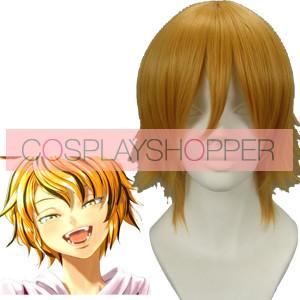 Golden 32cm Tonhou Project Toramaru Shou Nylon Cosplay Wig