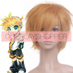 Golden 32cm Vacaloid Kagamine Len Cosplay Wig