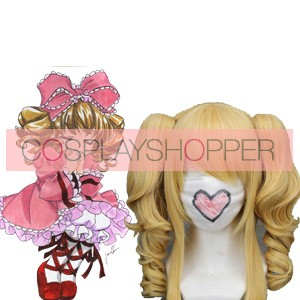 Golden 40cm Rozen Maiden Hinaichigo Nylon Cosplay Wig