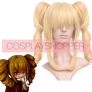 Golden 40cm When They Cry 3 Umineko no Naku Koro ni Beruzebubu Nylon Cosplay Wig