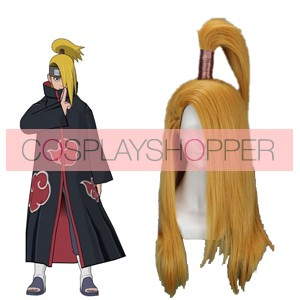 Golden 60cm Naruto Deidara Cosplay Wig