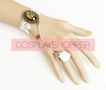 Gorgeous Floral Fashion Girls Lolita Bracelet And Ring Set