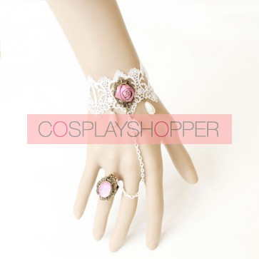 Gorgeous Rose Handmade Lolita Bracelet And Ring Set