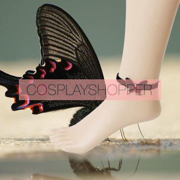 Gothic Black Bow Lady Lolita Ankle Belt