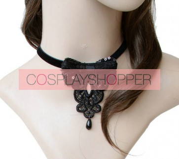 Gothic Black Bow Lolita Necklace