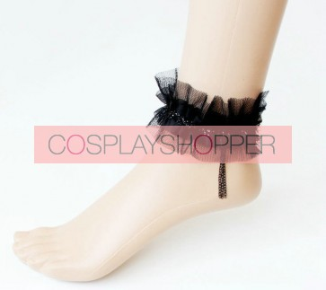 Gothic Black Handmade Women Lolita Ankle Belt