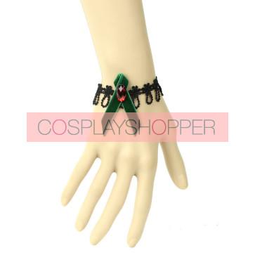 Gothic Black Lace Lady Handmade Lolita Wrist Strap